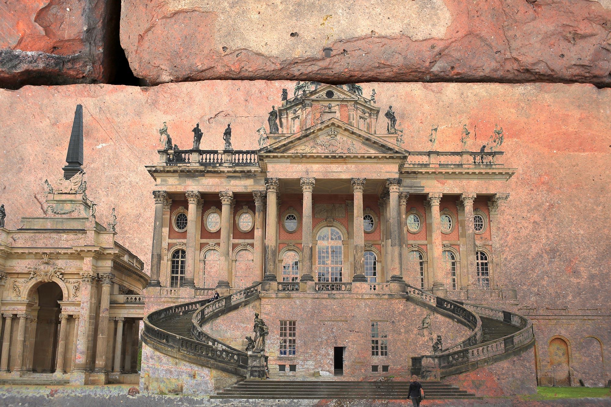 Communs am Neuen Palais in Potsdam, Doppelbelichtung